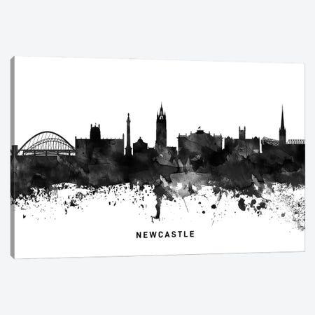 Newcastle Skyline Black & White Canvas Print #WDA820} by WallDecorAddict Art Print