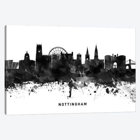 Nottingham Skyline Black & White Canvas Print #WDA822} by WallDecorAddict Art Print