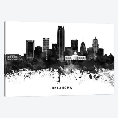 Oklahoma Skyline Black & White Canvas Print #WDA823} by WallDecorAddict Canvas Art Print