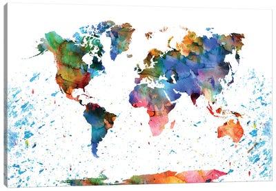 Colorful World Map Canvas Art Print