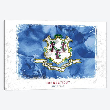 Connecticut Canvas Print #WDA85} by WallDecorAddict Canvas Art