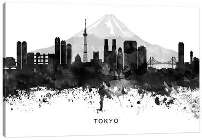Tokyo Skyline Black & White Canvas Art Print