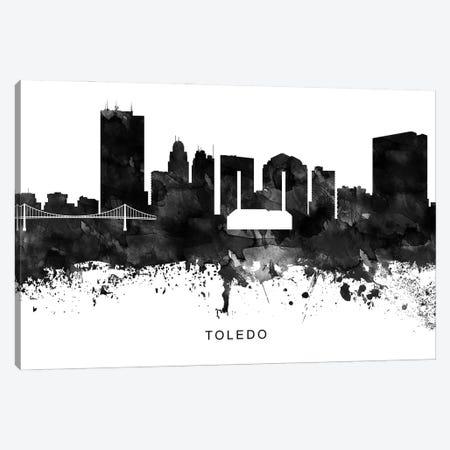 Toledo Skyline Black & White Canvas Print #WDA861} by WallDecorAddict Art Print