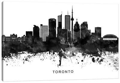 Toronto Skyline Black & White Canvas Art Print
