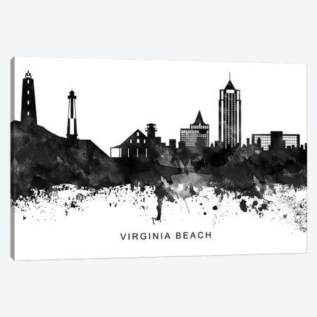 Virginia Skyline Black & White Canvas Print #WDA867} by WallDecorAddict Canvas Art