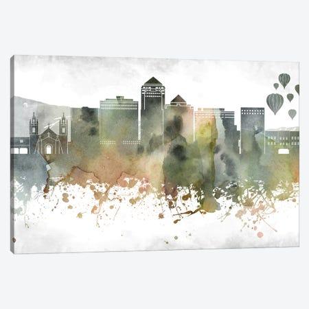 Albuquerque Skyline Canvas Print #WDA873} by WallDecorAddict Canvas Wall Art