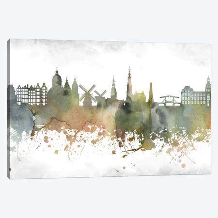 Amsterdam Skyline Canvas Print #WDA874} by WallDecorAddict Canvas Art Print