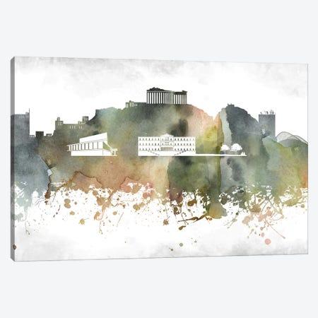 Athens Skyline Canvas Print #WDA876} by WallDecorAddict Canvas Print