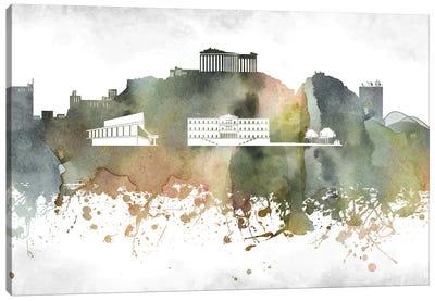 Athens Skyline Canvas Art Print