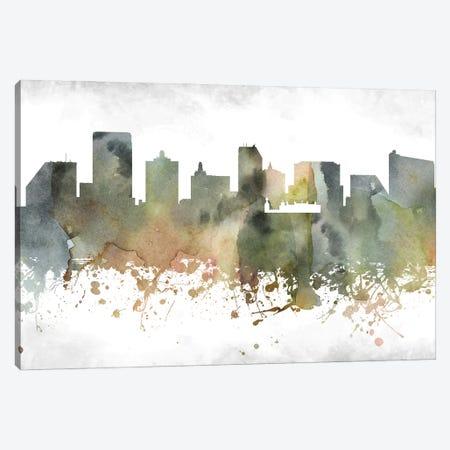 Atlantic City Skyline Canvas Print #WDA878} by WallDecorAddict Canvas Artwork
