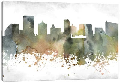 Atlantic City Skyline Canvas Art Print