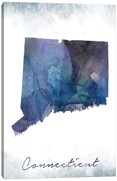 Connecticut State Bluish Canvas Art Print