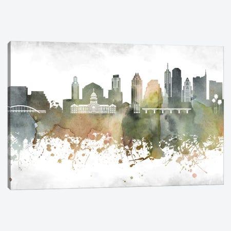 Austin Skyline Canvas Print #WDA880} by WallDecorAddict Canvas Print