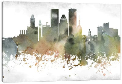 Baltimore Skyline Canvas Art Print