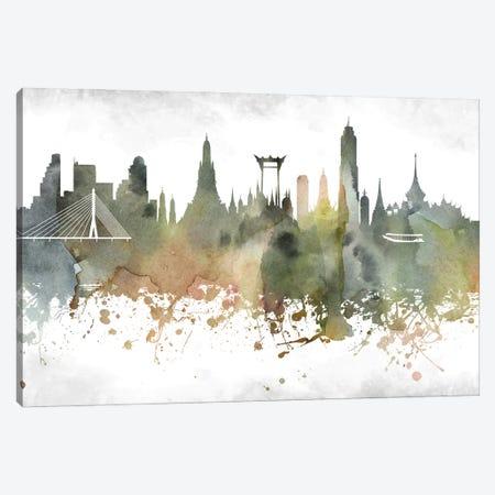 Bangkok Skyline Canvas Print #WDA882} by WallDecorAddict Canvas Print