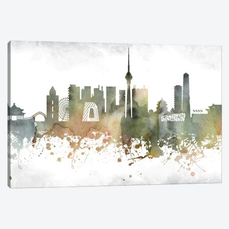 Beijing Skyline Canvas Print #WDA884} by WallDecorAddict Canvas Wall Art