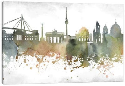 Berlin Skyline Canvas Art Print