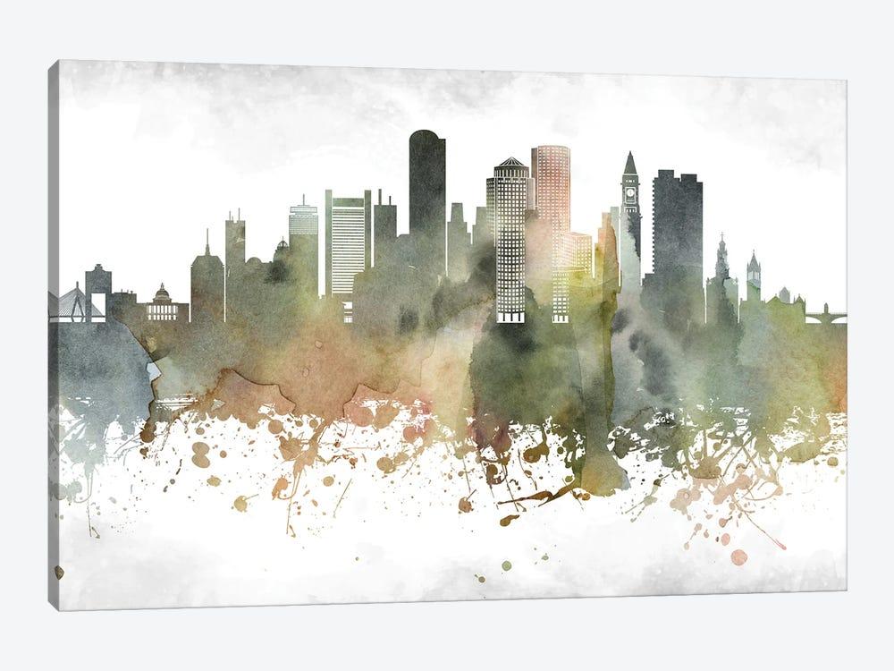 Boston Skyline by WallDecorAddict 1-piece Canvas Artwork