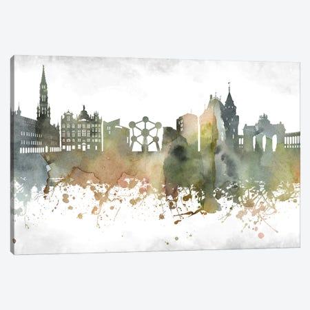 Brussels Skyline Canvas Print #WDA889} by WallDecorAddict Art Print