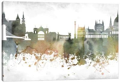 Budapest Skyline Canvas Art Print