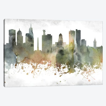 Buffalo Skyline Canvas Print #WDA892} by WallDecorAddict Canvas Wall Art
