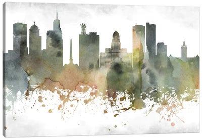 Buffalo Skyline Canvas Art Print