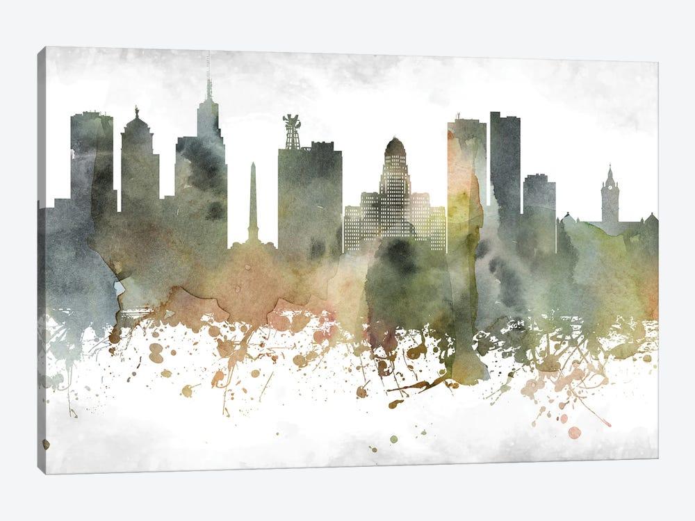 Buffalo Skyline by WallDecorAddict 1-piece Canvas Print
