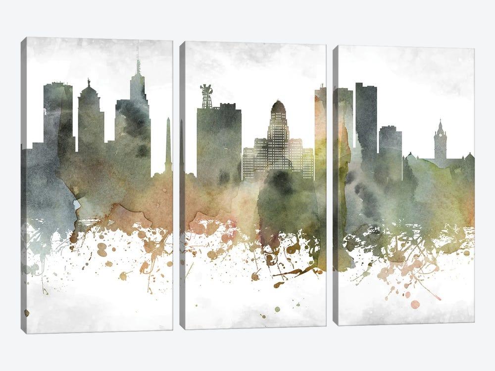 Buffalo Skyline by WallDecorAddict 3-piece Art Print