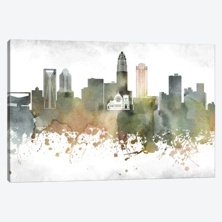 Charlotte Skyline Canvas Print #WDA897} by WallDecorAddict Art Print