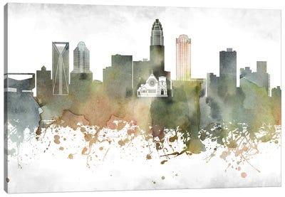 Charlotte Skyline Canvas Art Print