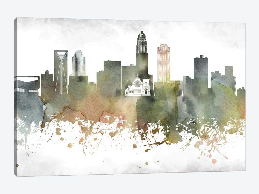 Charlotte Skyline by WallDecorAddict 1-piece Canvas Artwork