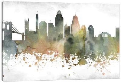 Cincinnati Skyline Canvas Art Print
