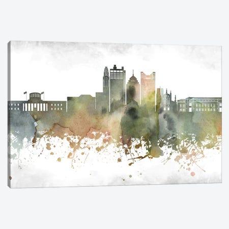 Columbus Skyline Canvas Print #WDA901} by WallDecorAddict Canvas Wall Art