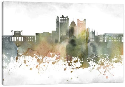 Columbus Skyline Canvas Art Print