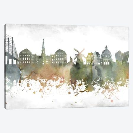 Copenhagen Skyline Canvas Print #WDA903} by WallDecorAddict Canvas Wall Art