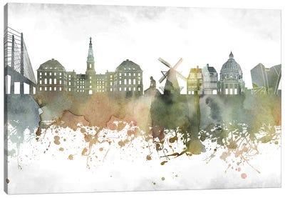 Copenhagen Skyline Canvas Art Print