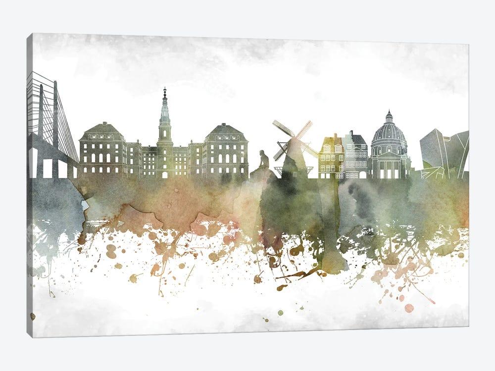 Copenhagen Skyline by WallDecorAddict 1-piece Canvas Artwork