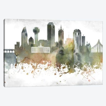 Dallas Skyline Canvas Print #WDA904} by WallDecorAddict Art Print