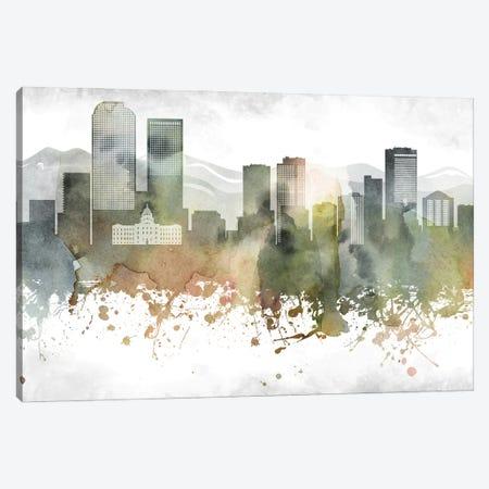 Denver Skyline Canvas Print #WDA907} by WallDecorAddict Canvas Print