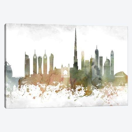 Dubai Skyline Canvas Print #WDA908} by WallDecorAddict Canvas Art