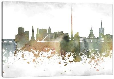 Dublin Skyline Canvas Art Print