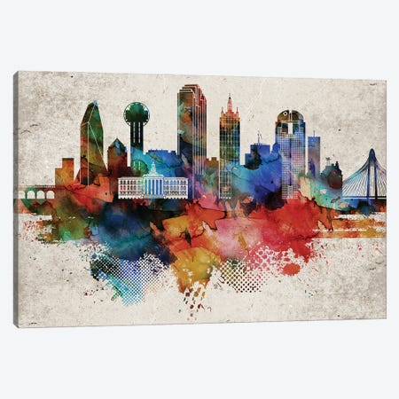 Dallas Abstract Canvas Print #WDA90} by WallDecorAddict Canvas Artwork