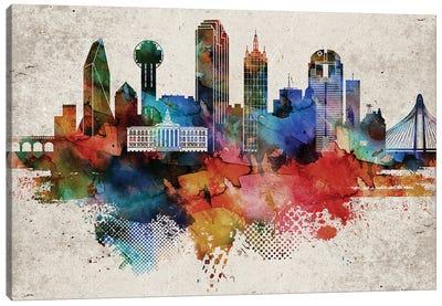 Dallas Abstract Canvas Art Print