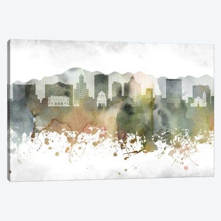 El Paso Skyline Canvas Print #WDA913} by WallDecorAddict Canvas Art Print