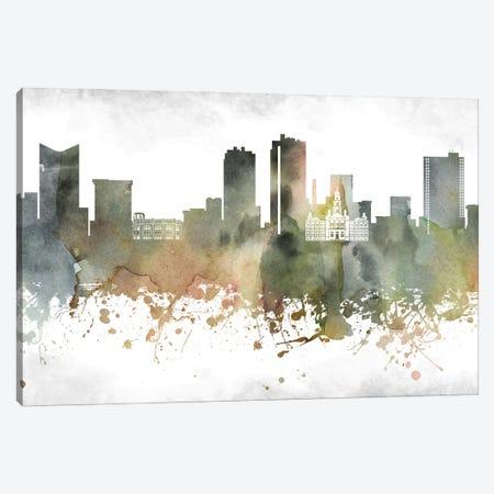 Fort Worth Skyline Canvas Print #WDA915} by WallDecorAddict Canvas Artwork