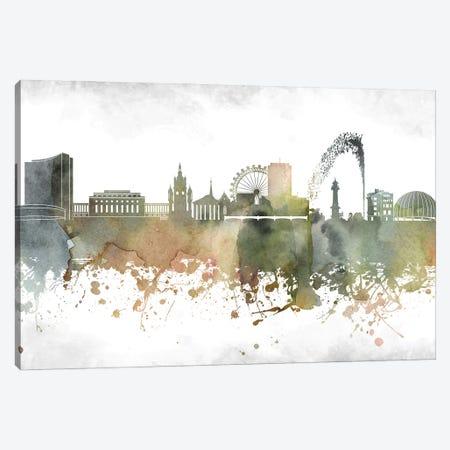 Geneva Skyline Canvas Print #WDA916} by WallDecorAddict Canvas Art
