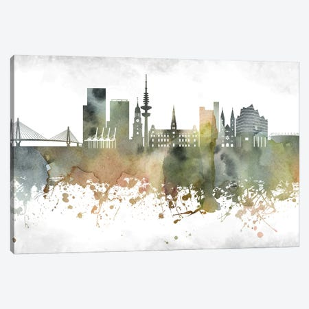 Hamburg Skyline Canvas Print #WDA920} by WallDecorAddict Canvas Wall Art