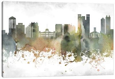 Honolulu Skyline Canvas Art Print