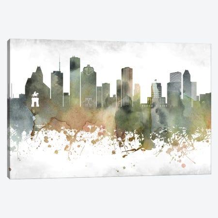 Houston Skyline Canvas Print #WDA924} by WallDecorAddict Canvas Print
