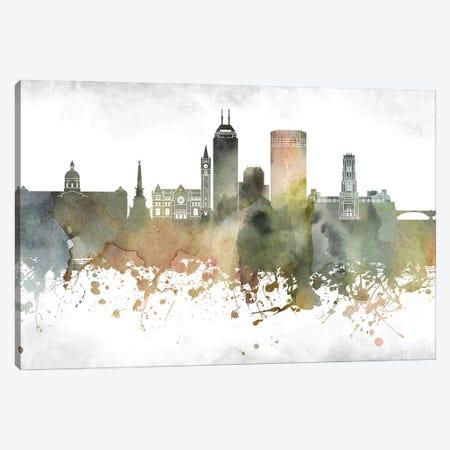 Indianapolis Skyline Canvas Print #WDA925} by WallDecorAddict Art Print